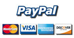 We accept All major credit cards! You DO NOT need a Paypal account to pay!